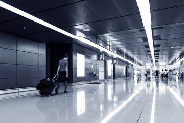 passenger in Hong Kong airport.interior of airport