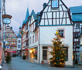 Christmas Eve in Bernkastel-Kues, Germany.