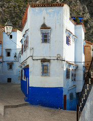Typical House in the medina, Chefchaouen, Morocco.