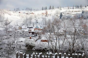 Winter day in the Village. Vorokhta, Ukraine