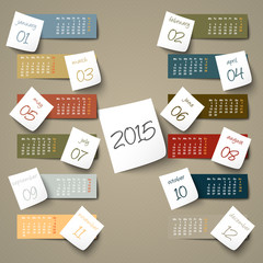 2015 calendar paper sticker