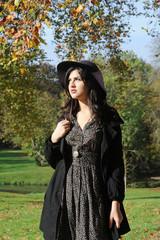jeune femme automne