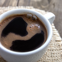 Close-up of a wonderful cup of coffee