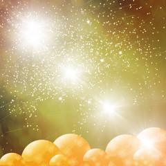 navidad con luces y adornos