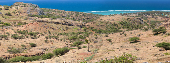 campagne rodriguaise, côte est de l'île