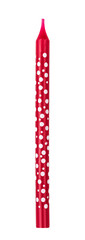 Red candle polka dot isolated on white background