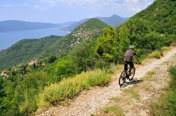 Bike ride over beautiful landscape