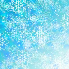 fondo de navidad y año nuevo con estrellas de nieve