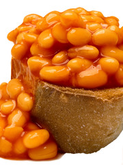 british baked bean toast