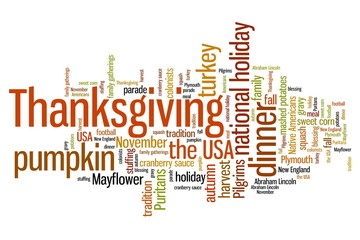 Thanksgiving - word cloud concept