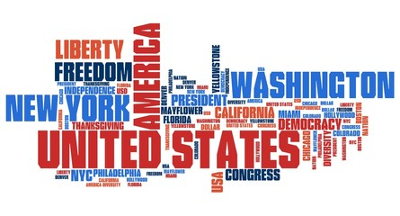 United States - word cloud concept