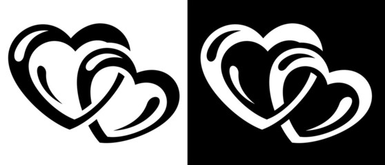 Hearts connection icon