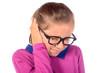 a little girl has earache - 72551034