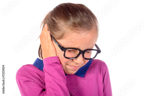 a little girl has earache