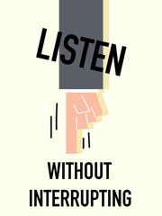 Word LISTEN vector illustration