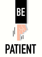 Word PATIENT vector illustration