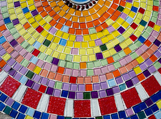 Decorative background with colorful mosaic tiles