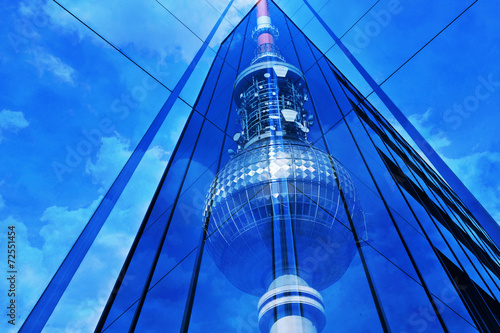 canvas print picture Fernsehturm Berlin