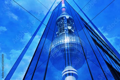canvas print picture Fernsehturm Berlin