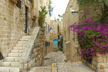 Typical alley in Jaffa, Tel Aviv - Israel