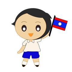 Cartoon ASEAN Laos