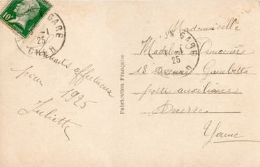 French Antique Postcard 92