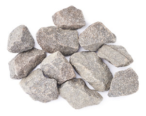 Multiple granite stones composition isolated