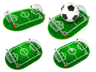 Football Concepts - Set of 3D Illustrations.