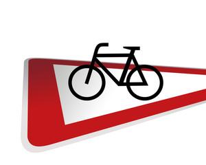 Verkehrsschild Achtung Fahrrad