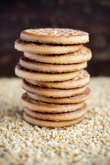 Stack of sugar homemade cookies