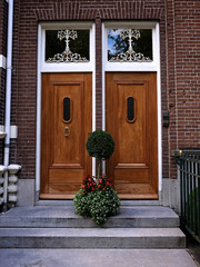 Two entrance doors