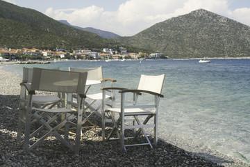 Chair in greek taverna