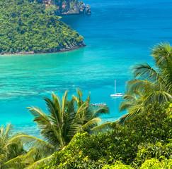 Palm Island Idyllic Panorama