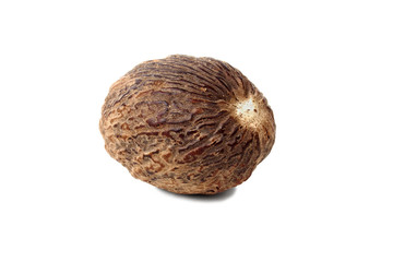 Nutmeg on white