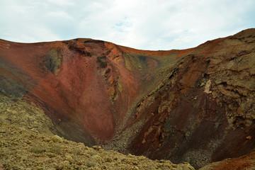 crater de un volcan
