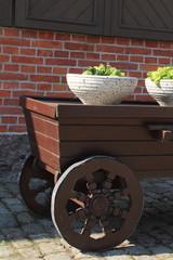 деревянное колесо на телеге