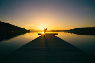 Sonnenuntergang Angler