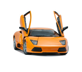 Collectible toy model Lamborghini front view