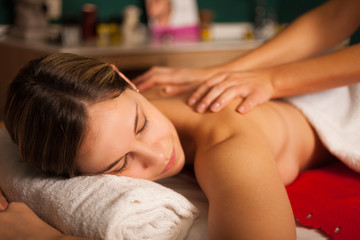 Woman having a massage
