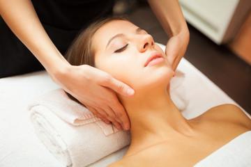 Woman enjoying a massage