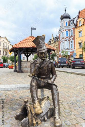 Posąg ułana z powstania listopadowego na rynku w Brodnicy - 72556282