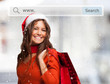 Online Crhristmas shopping concept