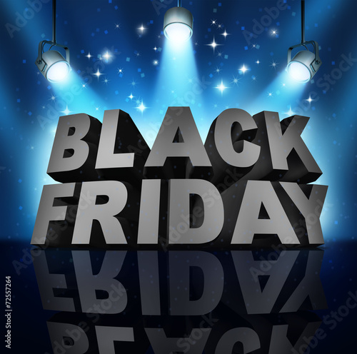 canvas print picture Black Friday