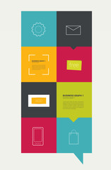Infographic flat design template.