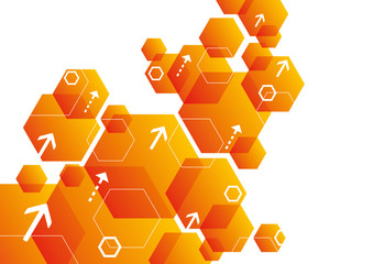 Abstract Hexagonal Background Design