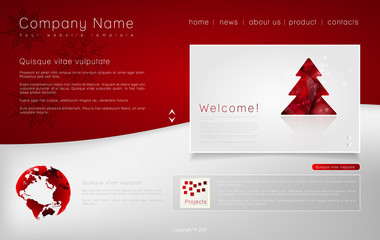 Corporate Website template. Creative web Multifunctional Media d