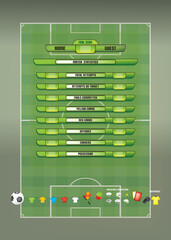 Game report info graphics for football soccer vector