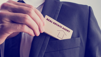 Agent in Simple Real Estate Concept