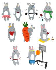Bunny Vector Set