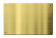 Brass or gold metal plate isolated with clipping path included - 72560883